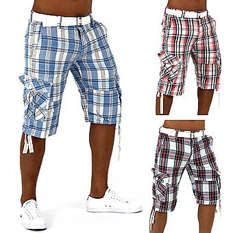 Men's shorts summer hit Bermuda shorts, vintage short casual cargo Capri