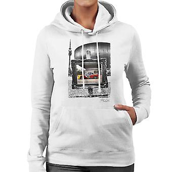 BMW Art Car Calder Black And White Frame Women's Hooded Sweatshirt