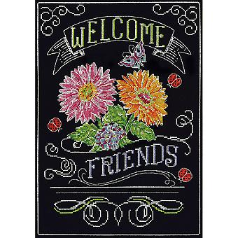 Welcome Chalkboard Counted Cross Stitch Kit-10