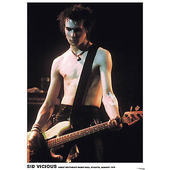 Sid Vicious Atlanta Live In Atlanta affiche Poster Print