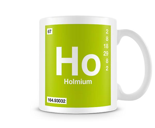 Element Symbol 067 Ho - Holmium Printed Mug