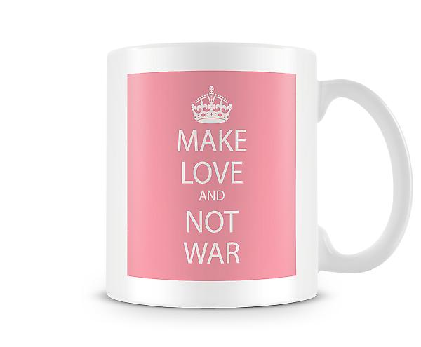 Make Love Not War Mug imprimé