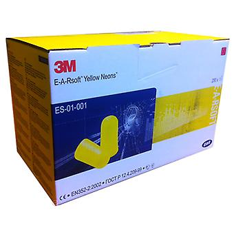 3M Es-01-001 3M E-A-Rsoft Yellow Neon Ear Plugs Pack Of 250