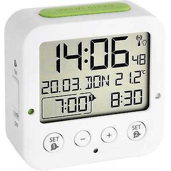 TFA 60.2528.02 Radio Alarm clock White, Green Alarm times 2