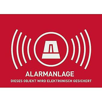 Warning label Alarm secured Languages German (W x H) 74 mm x 52