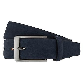 LLOYD Men's belt belts men's belts leather belt leather dark blue 7267