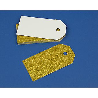15 or luxe Glitter 10cm Tags pour artisanat & emballage cadeau