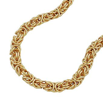 King chain around 5 mm gold plated AMD 50 cm