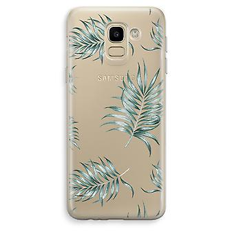 Samsung Galaxy J6 (2018) Transparent Case (Soft) - Simple leaves
