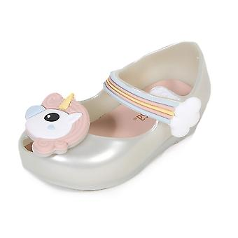 Melissa Mini Infants Ultragirl Unicorn Flat Plastic Shoe White