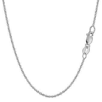 14 k White Gold Forsantina Halskette, 1,5 mm
