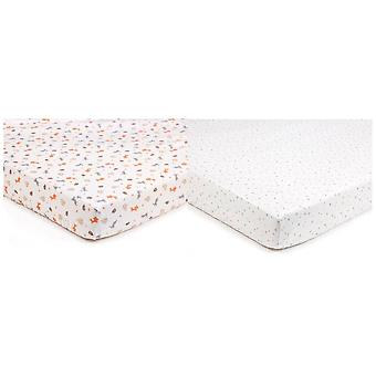 Breathable Baby Super Dry Cotbed Sheets 2 Pack