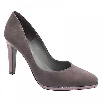 Peter Kaiser Grey Suede Leather High Heel Court Shoe