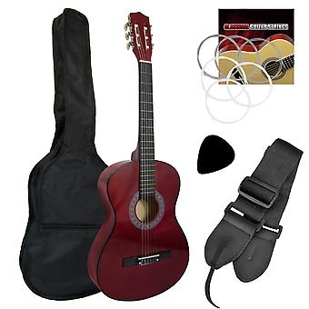 Tiger Childrens 3/4 Size Classical Guitar Package - Red