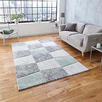 Brooklyn 22192 grå grön rektangel mattor moderna mattor