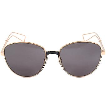 Christian Dior Ultra RCWY1 Black & Gold Sunglasses | Grey Lens