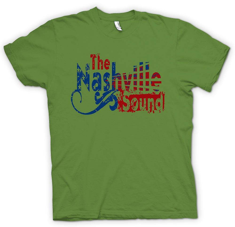 Heren T-shirt - Nashville Sound - Blues Country muziek