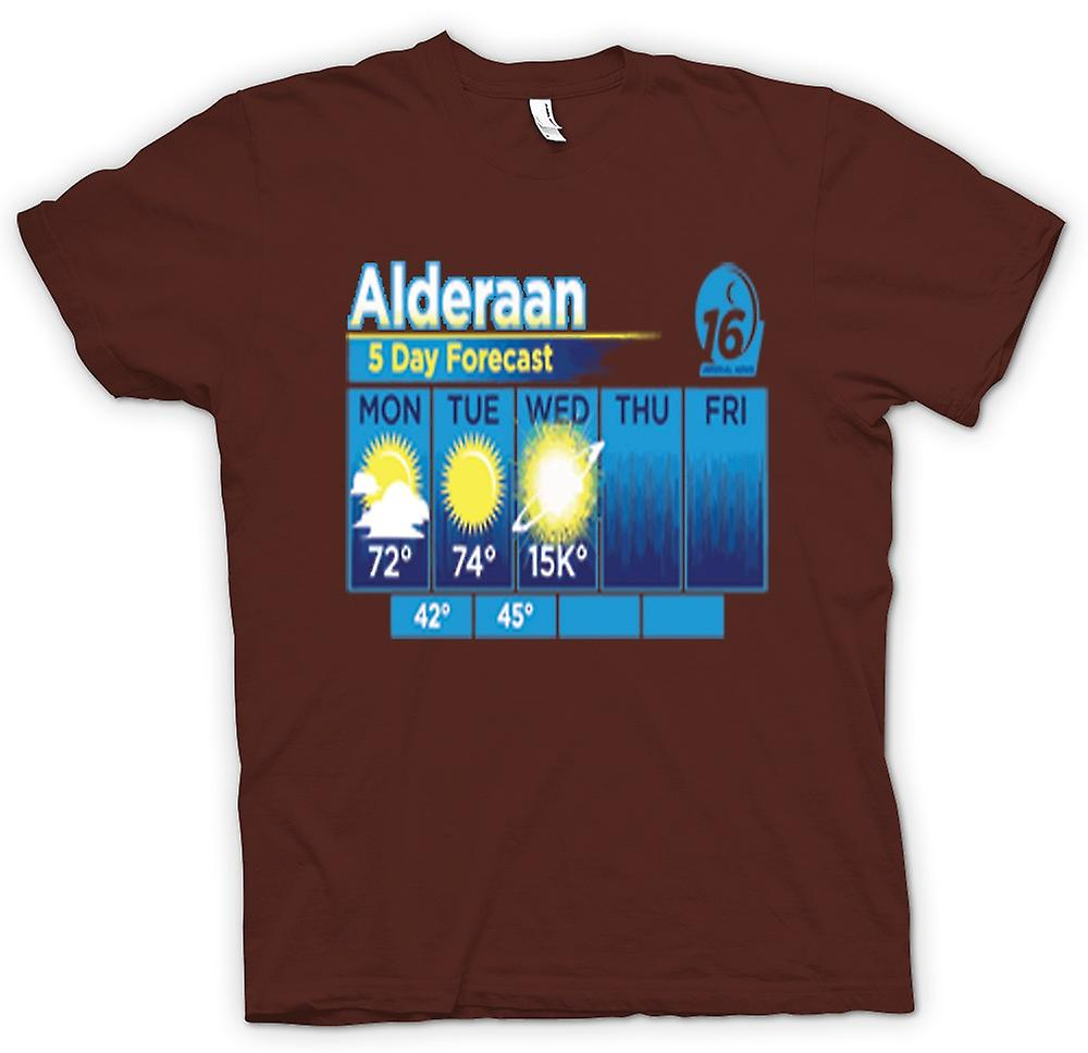 Heren T-shirt - Alderaan 5 dagen weer Forcast - Star Wars