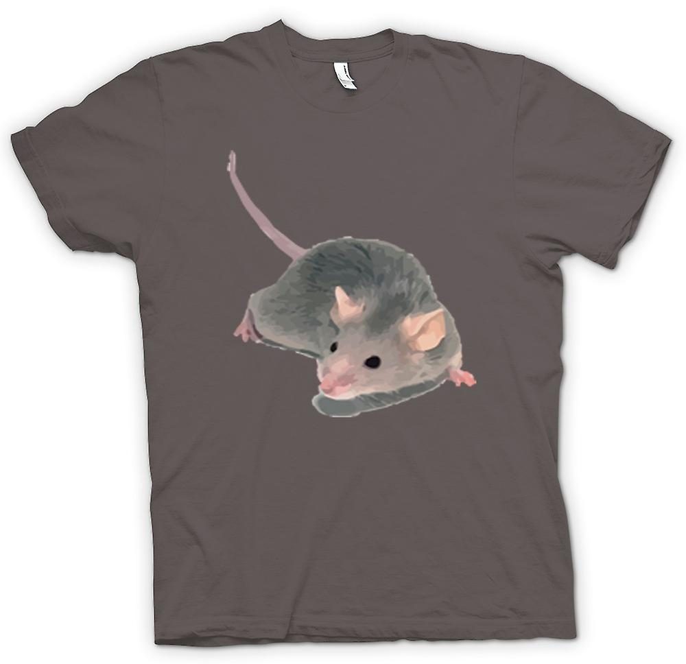 Heren T-shirt-Pet Rat dierlijke portret