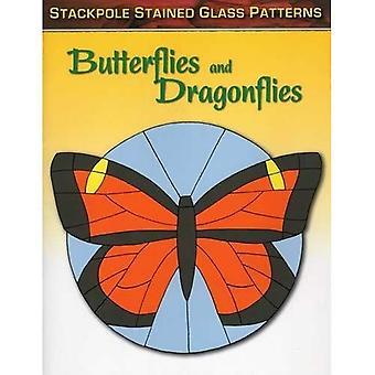 Schmetterlinge und Libellen (Buntglasmuster)