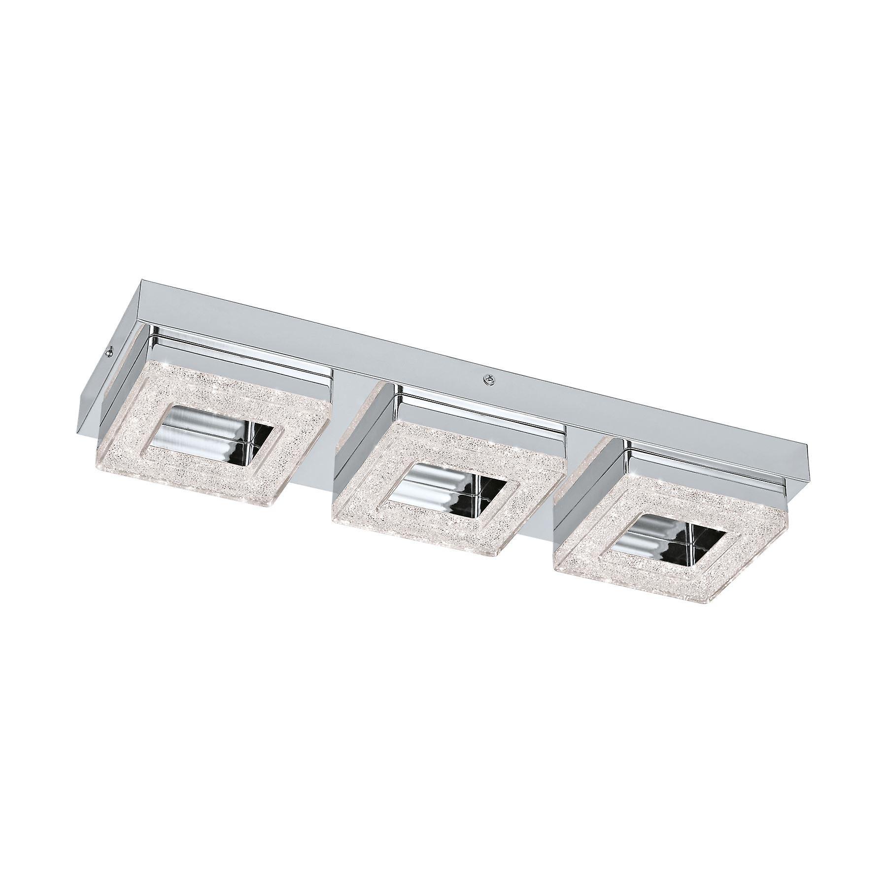 Eglo - Fradelo Triple Square LED Crystal Ceiling Fitting EG95656