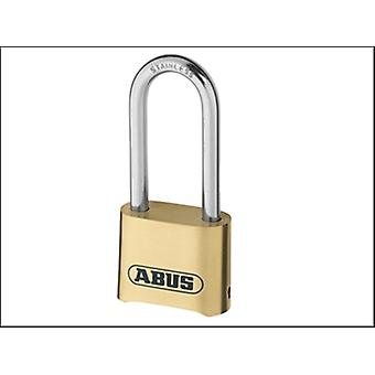 180IB/50HB63 50MM COMBINATION PADLOCK BRASS LONG SHACKLE CARDED