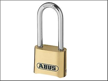ABUS 180IB/50HB63 50mm Combination Padlock Brass Long Shackle Carded