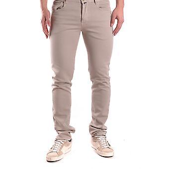 Pt05 Beige Cotton Jeans