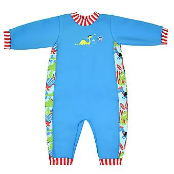 Splash About Warm in One Fleece Lined Baby Wetsuit | Dino Pirates