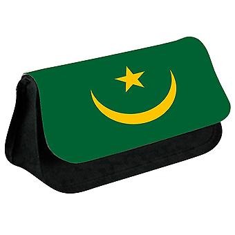 Mauritania Flag Printed Design Pencil Case for Stationary/Cosmetic - 0110 (Black) by i-Tronixs