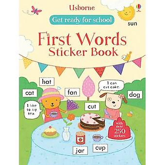 Get Ready for School First Words Sticker Book by Hannah Wood - Marina