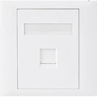 CAT5e RJ45 Wall Face Plate 86x86mm 1 Port Socket Kit