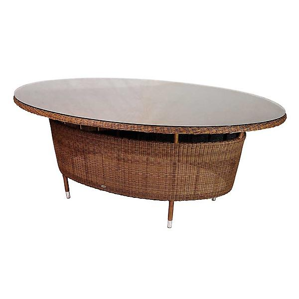 Alexander Rose San Marino Oval Table with Glass