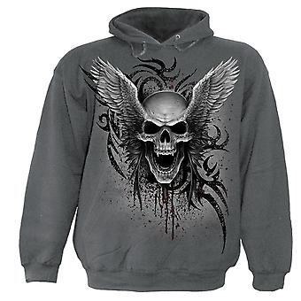 Spiral Direct Gothic ASCENSION - Hoody Charcoal|Skulls|Wings|Tribal
