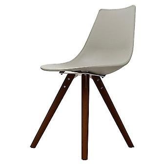 Fusion Living Iconic Light Grey Plastic Dining Chair With Dark Wood Legs Fusion Living Iconic Light Grey Plastic Dining Chair With Dark Wood Legs Fusion Living Iconic Light Grey Plastic Dining Chair With Dark Wood Legs Fusion Living