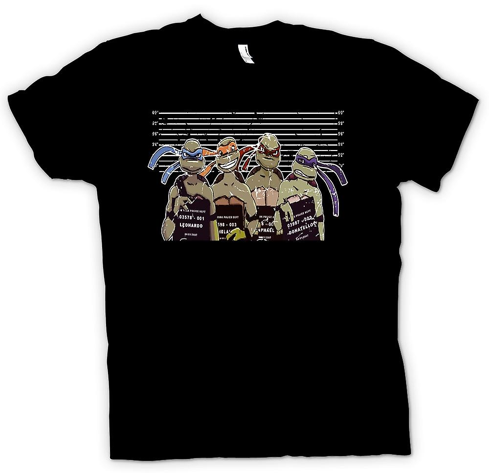 Womens T-shirt - Teenage Mutant Ninja Turtles Police Line Up