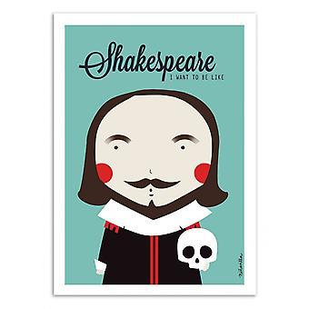 Art-Poster - Shakespeare - Ninasilla 50 x 70 cm