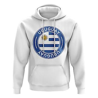 Uruguay Football Badge Hoodie (White)