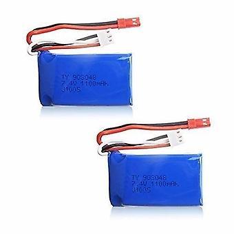 2 unids 7.4V 1100mAh Li-Po batería de helicóptero WLtoys A949 A959 A969 A979 V912 V913