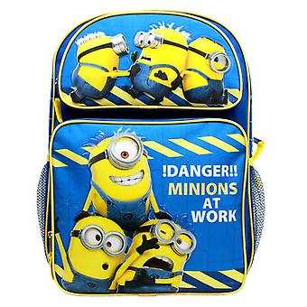Backpack - Despicable Me - Danger Minions at Work Blue 16