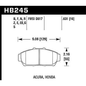 Hawk Performance HB245E.631 Blue 9012