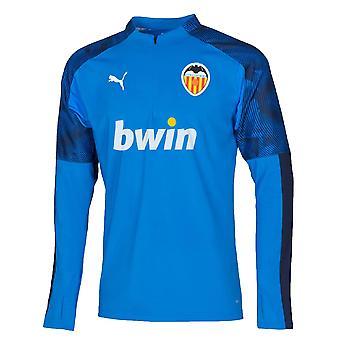 2019-2020 Valencia Puma Quarter Zip Training Top (Bleu)