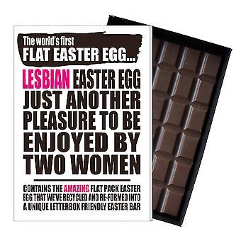 Lustige flache Ostern Ei Schokolade Bar Grußkarte Geschenk LGBT Lesben Gay Queer UK EIYF129