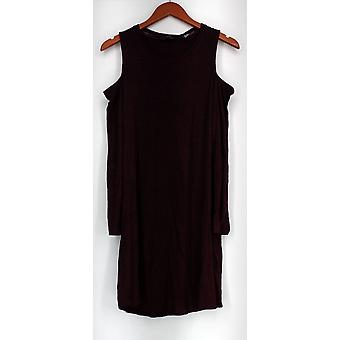 Anybody Dress Loungewear Brushed Hacci Cold-Shoulder Red A297424