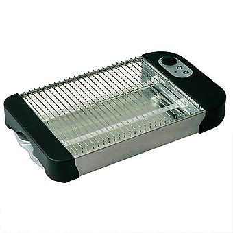 COMELEC TP-712/7012 600W black steel stainless toaster