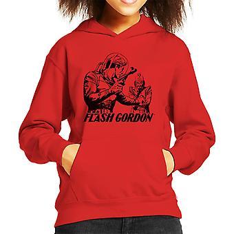 Flash Gordon Ming Gesicht Off Kid's Kapuzen Sweatshirt