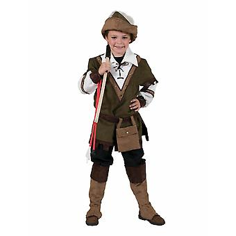 Kids Costume Forest Robin Hood Boys Disguise Carnival Fairy Tale Costume