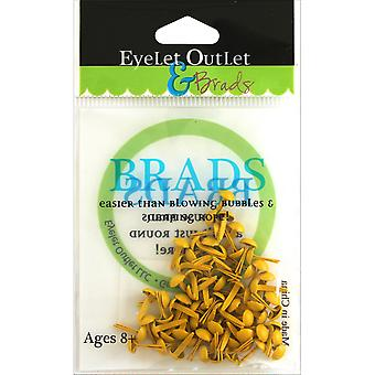 Eyelet Outlet Round Brads 4mm 70/Pkg-Yellow BRD4MM-610H
