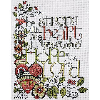 Heartfelt Be Strong Counted Cross Stitch Kit 8