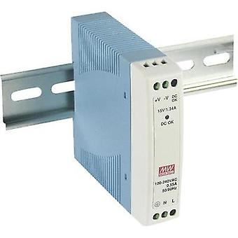 Rail mounted PSU (DIN) Mean Well MDR-10-12 12 Vdc 0.84 A 10 W 1 x